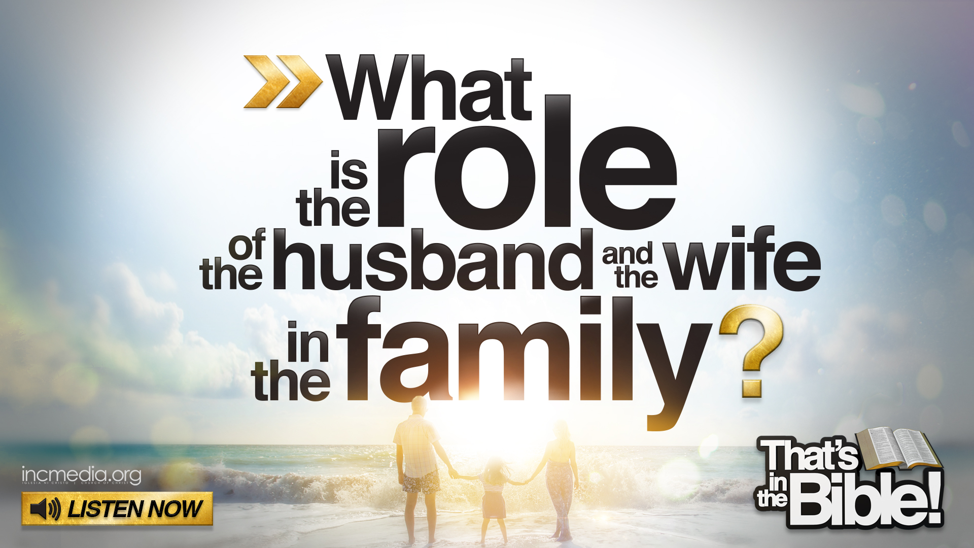 the role of husband and wife There are specific roles for the husband and wife to fulfill dod does a good job pointing out their respective roles and stations in the marriage.